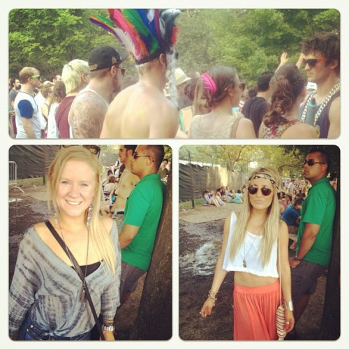 Via @lanekipp: Hippies @zippytiff #hippies #osheaga2012 #blondes #blonde #style #vintage #headband #maxiskirt #tyedye #indian #montreal #blueeyes #summer