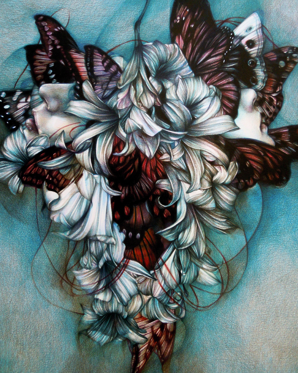 "marcomazzoni:  ""Apnea"" 2012, colored pencils on paper, cm 50x40"