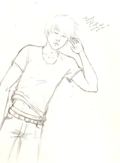 I'm not confident about proportions ;3; BUT OH WELL. Eli put that in my mind again. Haven't decided if will color it digitally or else.