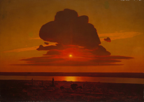 (via Arkhip Ivanovich Kuindzhi - Red Sunset on the Dnieper [1905-08] | Gandalf's Gallery)