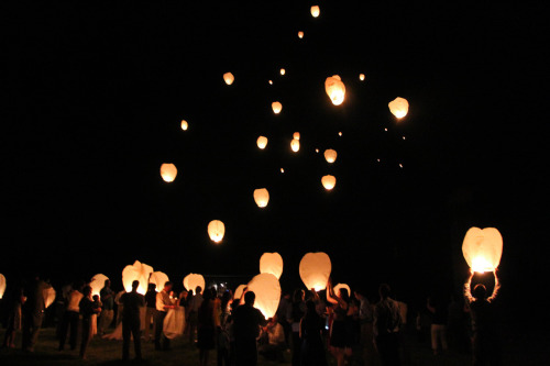 Original | Lanterns. This is on the list of my top favorite moments in life. Hands down.