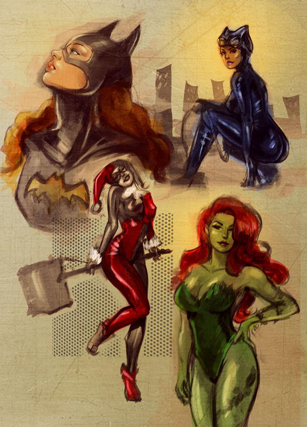 comics-continuum:  Gotham Girls sketch by ~Kazeki