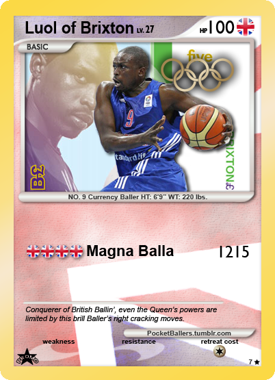 pocketballers:  London 2012: Cash Money - Luol Deng