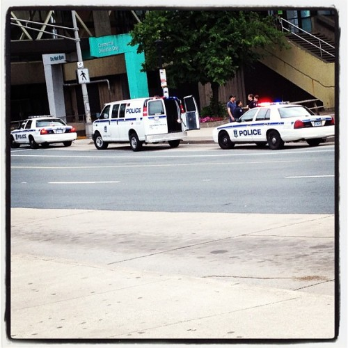 Three of four police vehicles currently at Scotia Square. #Halifax (Taken with Instagram)