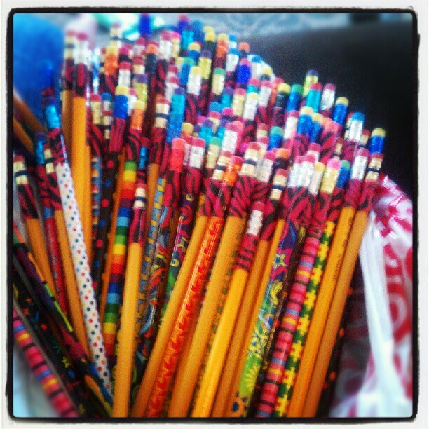 #backtoschool #pencils #zebraprint #ducttape  (Taken with Instagram)