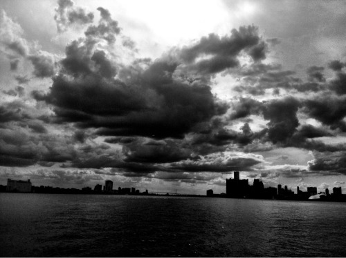 Detroit & Windsor skyline