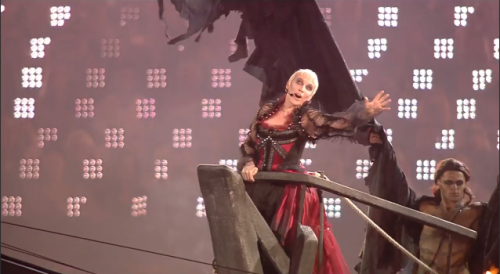 Annie Lennox introduces the 76th Annual Hunger Games in London.