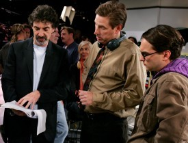 "Deadline contributor Adam Buckman talks with producers Chuck Lorre and Bill Prady about their hit TV comedy, ""The Big  Bang Theory,"" as it makes another run for Emmy glory.  On-set, it's business as usual, they say. But head to Comic-Con, and all of sudden, you notice people dressing up as show characters. Yes, they're having an effect.  Read more here: http://www.deadline.com/2012/08/emmys-chuck-lorre-bill-prady-big-bang-theory/"
