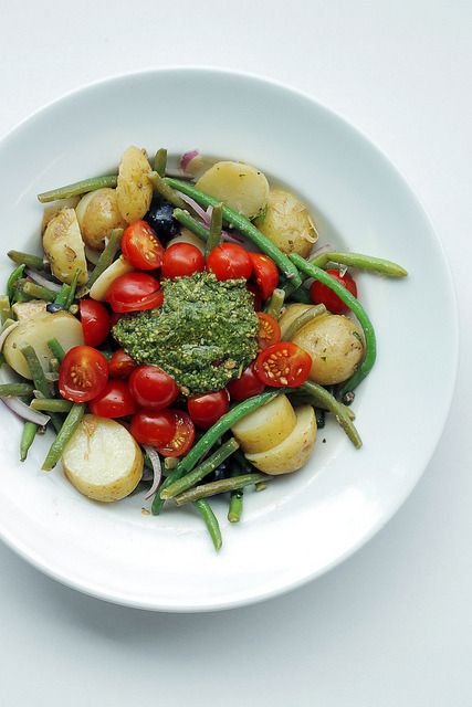 saladpride:  Green Beans, Potatoes and Tomatoes on Flickr.