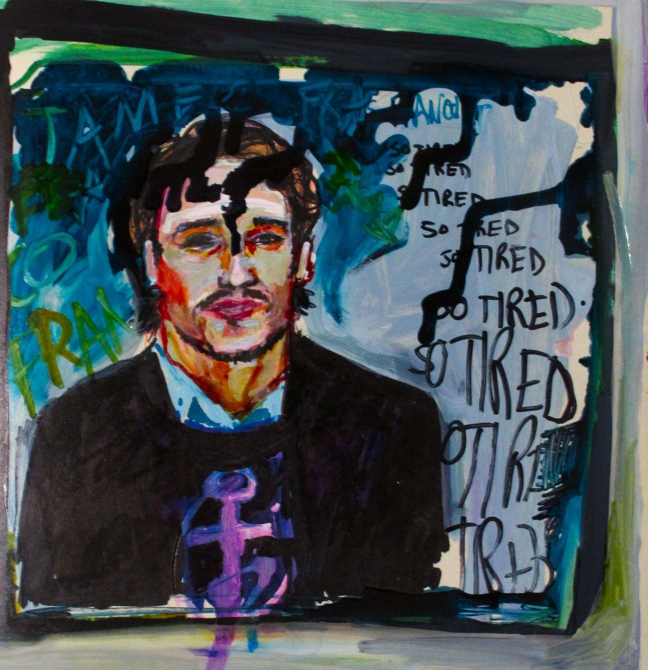 """I am James Franco and I am so tired."" © Elizabeth Grammaticas 2012."