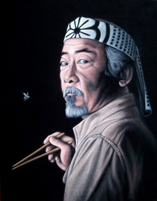 Mr Miyagi acrylic on velvet 14 x 18 inches framed SOLD at my show at Gallery1988! The show runs until August 15th, 2012. There are a few left for sale here!