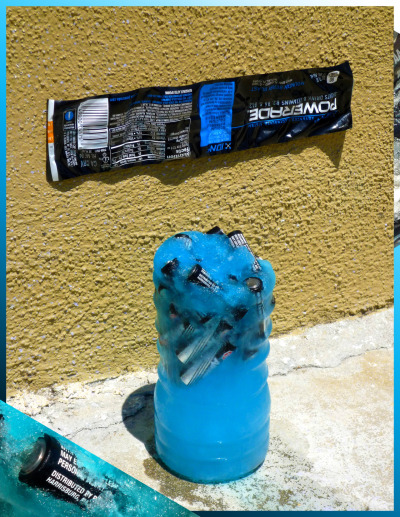 thejogging:  Batteries frozen in Powerade, 2012 Sculptural Remix Ω™