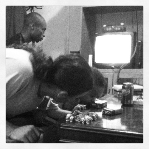 Fritz teaching bj a game. Awww look Hw cute lol (Taken with Instagram)
