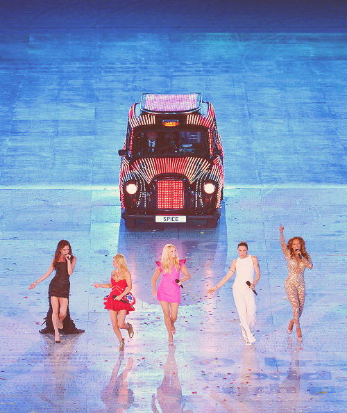 Spice Girls perform during the Closing Ceremony