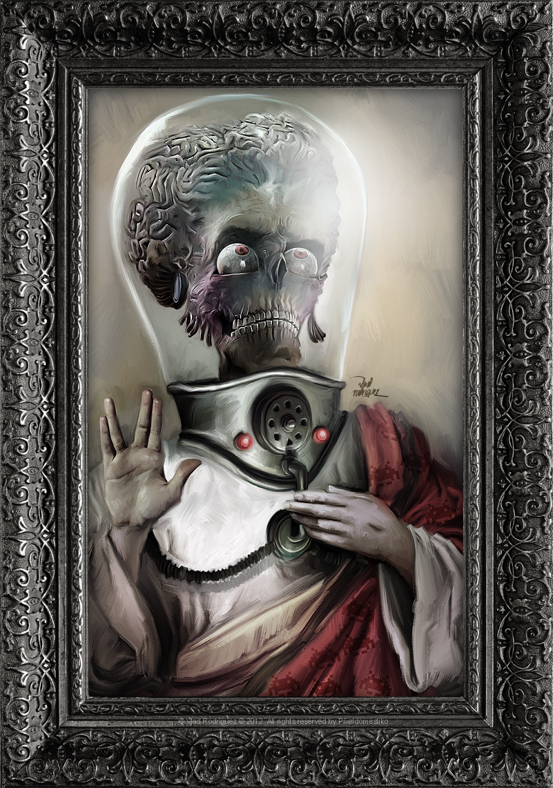vladrodriguez:  I believe in Mars Attacks! (((((Renaissance Painting in Sick Pop Culture))))))) Art by Pixeldomestiko  Love this omg !