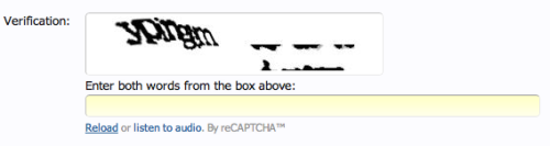 wilwheaton:  Gettin' real sick of your shit, Master reCAPTCHA.  Seems a fitting opening post, as I said it while trying to open the account.  STUPID CAPTCHAS!