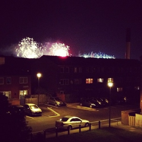 Closing ceremony hoopla from my room. (Taken with Instagram)