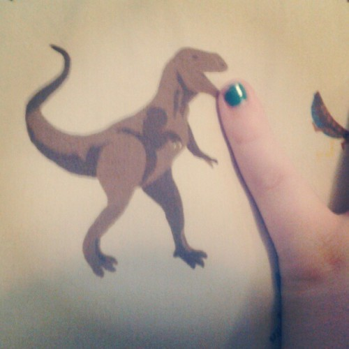 I have bad news pinky nail fan club: this t-rex ate it. #RIP (Taken with Instagram)