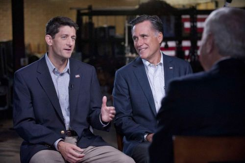 Mitt and Paul, looking dapper. (via @60Minutes)
