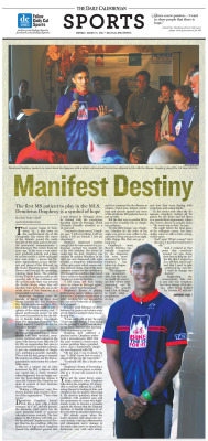 Sports feature for August 6 2012: 'Manifest Destiny' featuring Demitrius Omphroy Layout Design: Tracy Chan/Staff