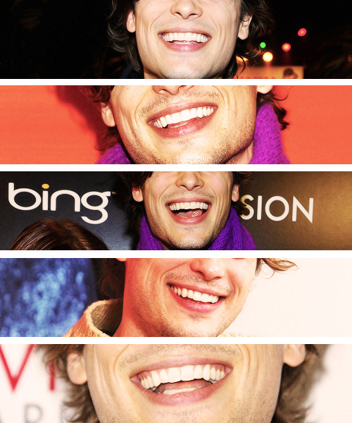 Matthew Gray Gubler + smile