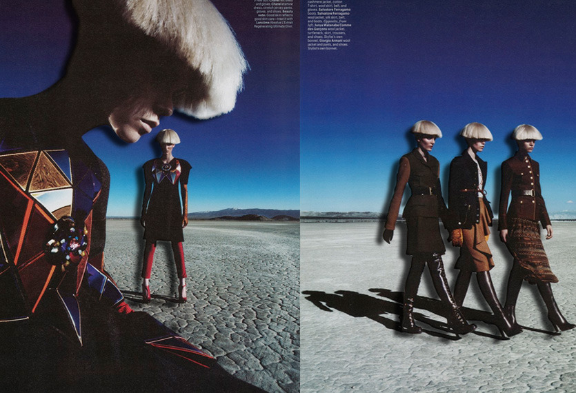 W Magazine | Patrick Demarchelier | Zuzanna Bijoch, Meghan Collison and Magda Laguinge | August 2012