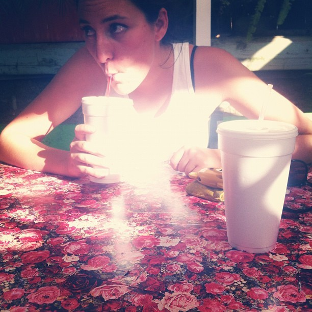 This table, this girl @laurenghost (Taken with Instagram at Tacos Delta)
