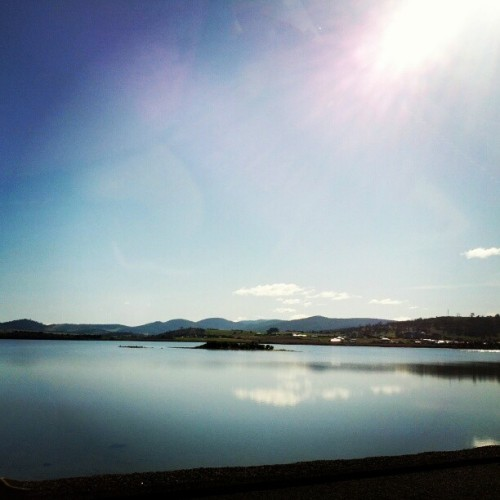 View along the Tasman Bridge (Taken with Instagram at Tasman Bridge)