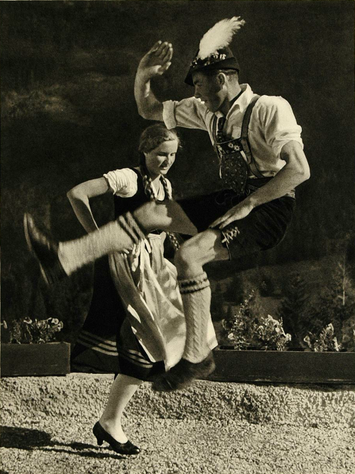 Bavarian folk dancers, 1935 by Lothar Rubelt