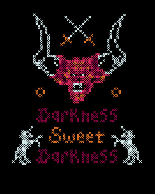 superpunch2:  Lord of Darkness cross stitch by Hillary White.