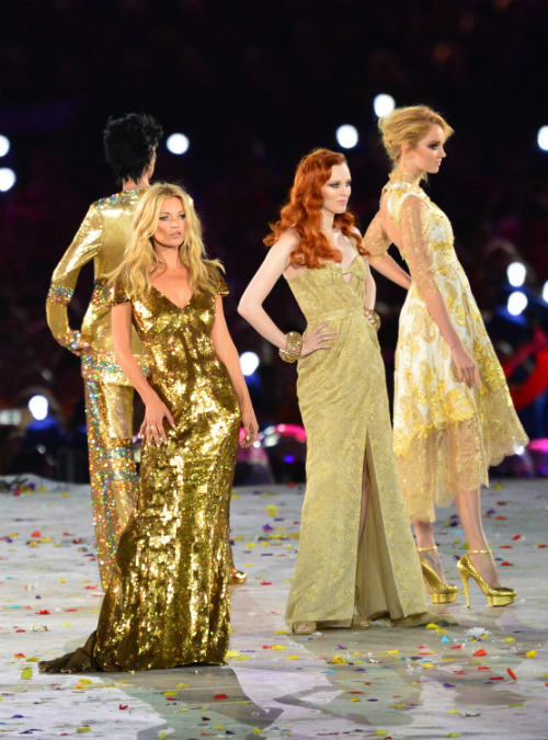The best of the Brits: see which supermodels lit up the Closing Ceremony.