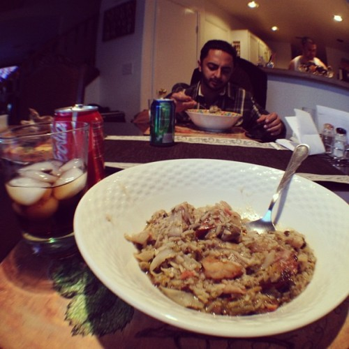 Homemade #Gumbo with @mikeymurrder #coke #food #foodporn #whatsoneeating  (Taken with Instagram at Hotel Bella Muerta)
