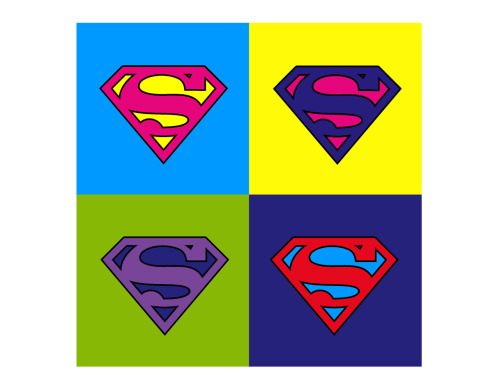 Superman pop art.