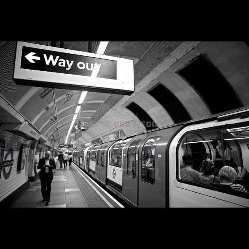 """Way Out"" [Lancaster Gate Station]… - photo by @RageOneMedia (Karl Ferguson) #TheTube #London (Taken with Instagram)"