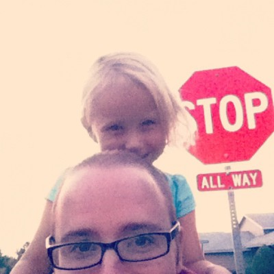 We are at the stop sign! (Taken with Instagram)
