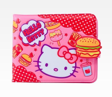 Hello Kitty Vinyl Burger Wallet