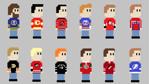 Because you dudes loved my first batch of hockey jerseys! 8-Bit NHL Jerseys 2