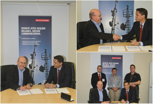 NewSat and BAE Systems contract signing for Wheatstone project Australia's largest independent satellite communications company has finally signed a two-year contract with BAE systems for offshore hardware and enterprise-grade satellite communications for the Wheatstone Project - the largest liquid natural gas development in the Northern region of Western Australia. The contract is worth $8.59 million and will provide the LNG development with offshore and onshore communications that can withstand the unique cyclonic conditions of the region.  PHOTO On bottom right photo from left to right: Robert Stojanovic – Sales Engineer, Robert Bradshaw – BAE Systems Commercial Manager, Jock Grummett – Security & Surveillance Manager at BAE Systems, Ashley Neale – NewSat's Sales Director, NewSat's Sales Director, Peter Werner – BAE Systems