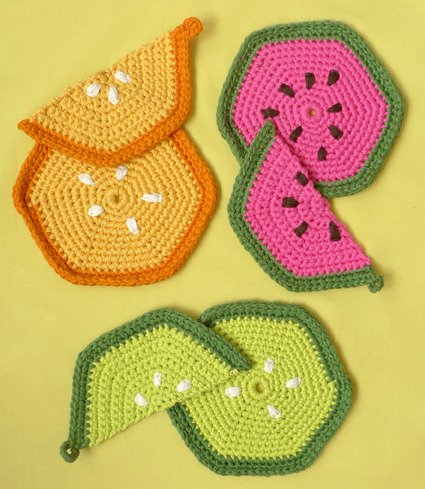 Whit's Knits: Fruity Trivets and Pot Holders - Fruity Trivets Pot Holders - the purl bee