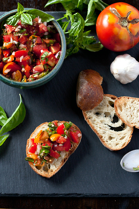 tryvegan:   Classic Bruschetta « local kitchen
