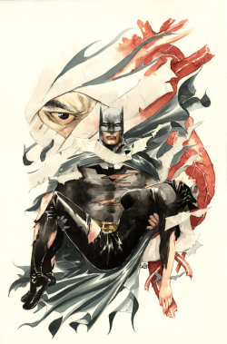Artwork for hardcover of Batman: Heart of Hush. April, 2009. Art by Dustin Nguyen.