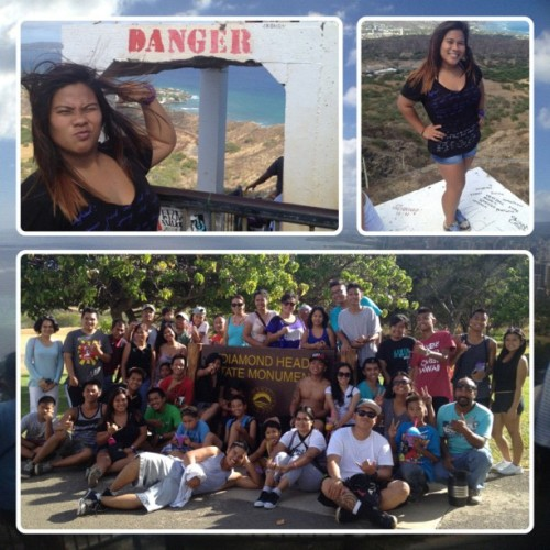 My FIRST time at Diamond Head — with the Filipino United Church of Christ. @nic_illest @itsrhaaaffy @_justeezy @lyntaisha @daaayummarkk @falcoblurr @alohanellz @meannejay @subia_mark @ravenjules #diamondhead #family #ilikegogymalready (Taken with Instagram)