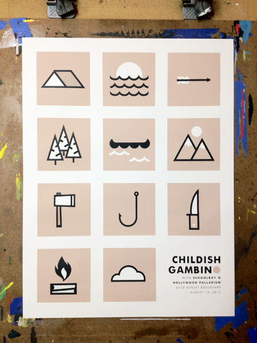 artpixie:  Childish Gambino posted by Nerl Says Design