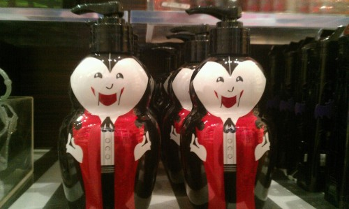 Teeny vampire soap dispensers from bed, bath, & beyond. Adorable!