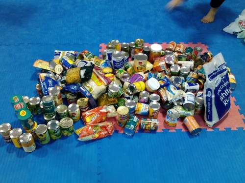 Food collected from the competion 04/08/2012
