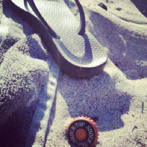 Good day. #summertime #2012 #Shocktop #flipflops #sunset #sand #instgram #instaperfection #drinksonme (Taken with Instagram)