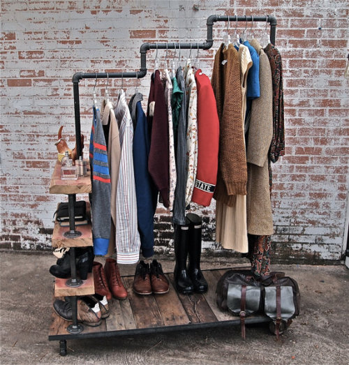 Industrial Garment Rack   Cool.