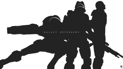 Here's a silhouetted background of Samus, Master Chief, and Shepard from the Galaxy Defenders series I just did. Feel free to download it.
