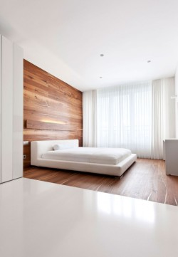 homedesigning:  (via Apartment Awash with Walnut & White)