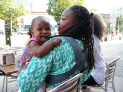 The hidden benefit of locs: At 8 months old, this teething baby girl demonstrates that you don't have to have locs, to benefit from locs.  Baby's teething is the reason mom says she doesn't add any product to her hair.